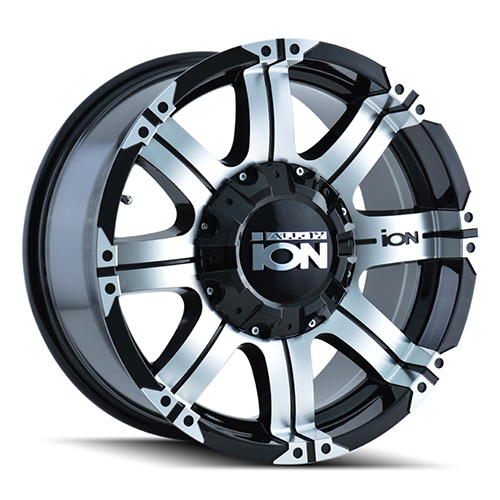 ION Wheels 187 Black Machined Face Machined Lip