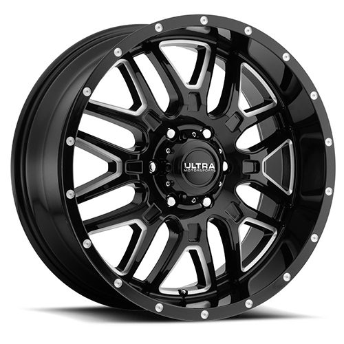 Ultra Wheels 203 Hunter Gloss Black with Milled Accents
