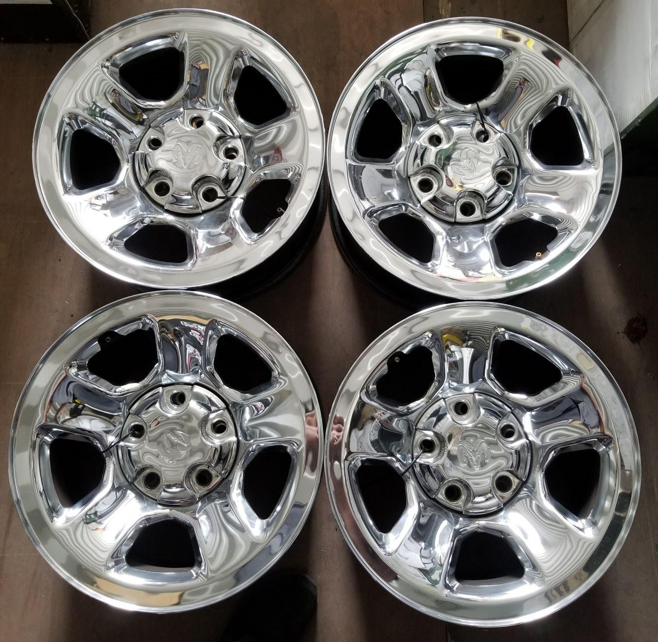 - OEM WHEELS - 2002-2012 DODGE 1500 PICKUP 17X8 5 SPOKE Hollander #2162 /  USED