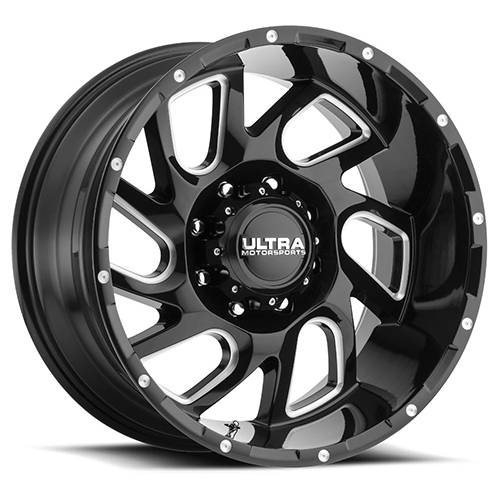 Ultra Wheels 221 Carnage Gloss Black with Milled Accents