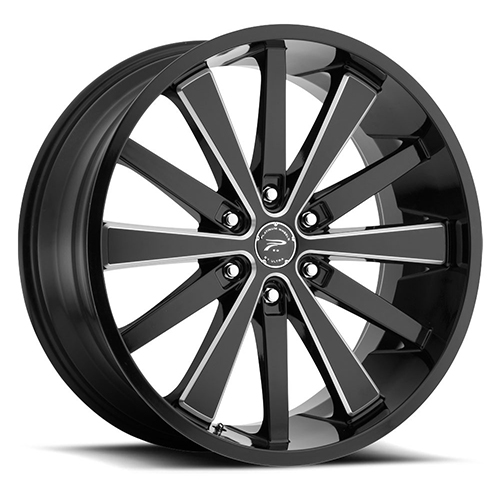 Platinum Wheels 270 Pivot Gloss Black with Milled Accents