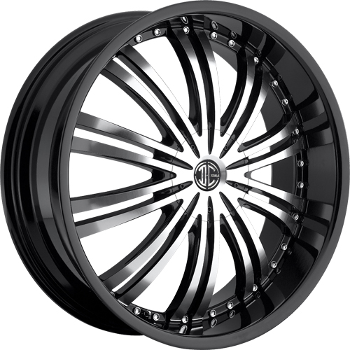 2 Crave Wheels No.1 GlossyBlack/MachinedFace