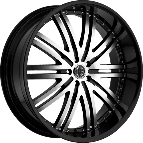 2 Crave Wheels No.11 GlossyBlack/MachinedFace