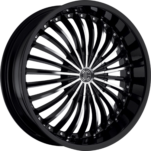 2 Crave Wheels No.13 GlossyBlack/MachinedFace