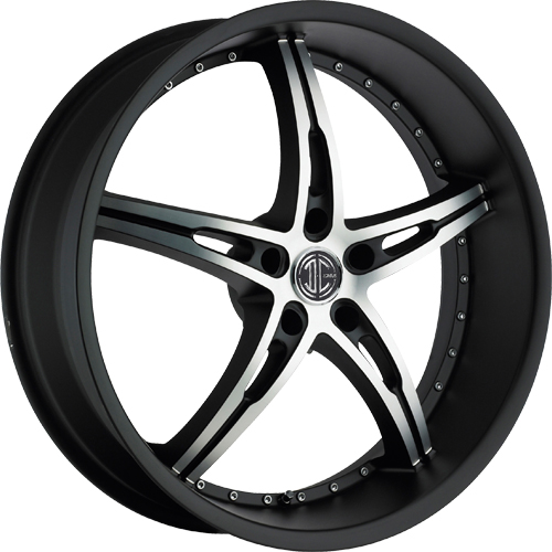 2 Crave Wheels No.14 GlossyBlack/MachinedFace