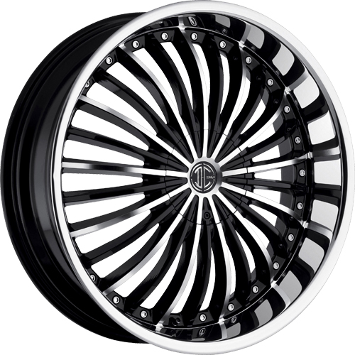 2 Crave Wheels No.19 GlossyBlack/MachinedFace/ChromeLip