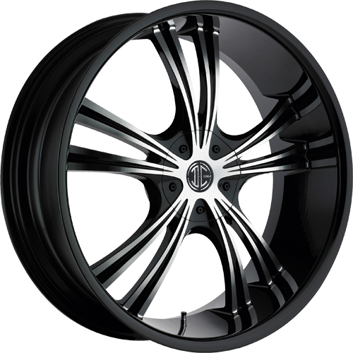 2 Crave Wheels No.2 GlossyBlack/MachinedFace