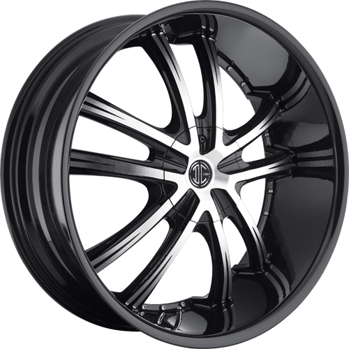 2 Crave Wheels No.24 Glossy Black/Machined Face