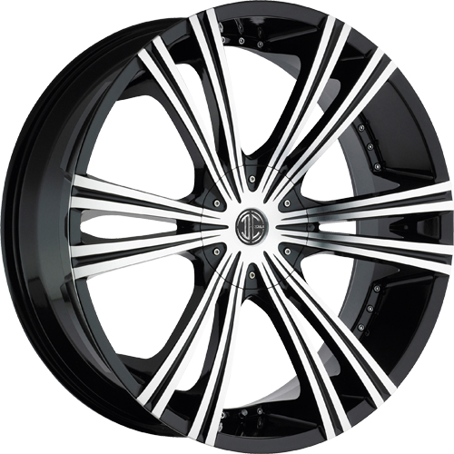 2 Crave Wheels No.28 Glossy Black/Machined Face
