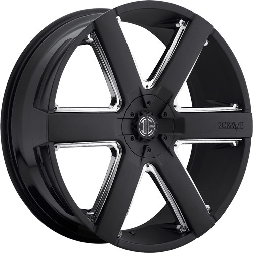 2 Crave Wheels No.31 Satin Black