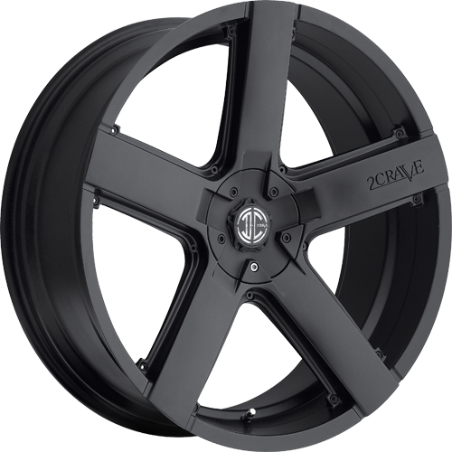 2 Crave Wheels No.35 Satin Black