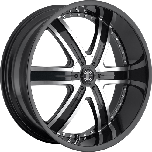 2 Crave Wheels No.4 GlossyBlack/MachinedFace