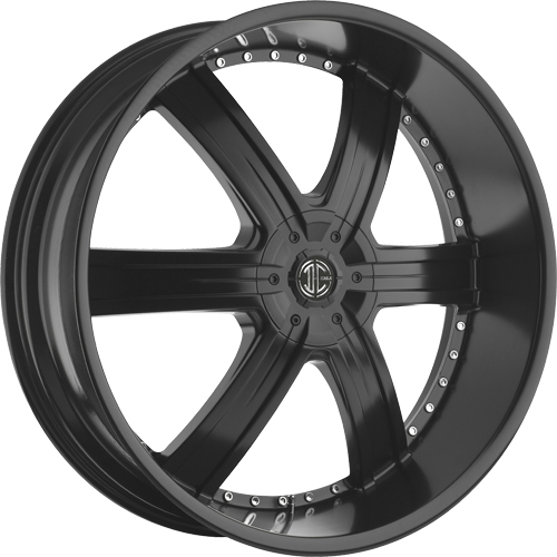 2 Crave Wheels No.4 Satin Black