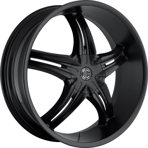 2 Crave Wheels No.5 Satin Black