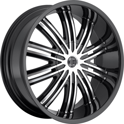 2 Crave Wheels No.7 GlossyBlack/MachinedFace
