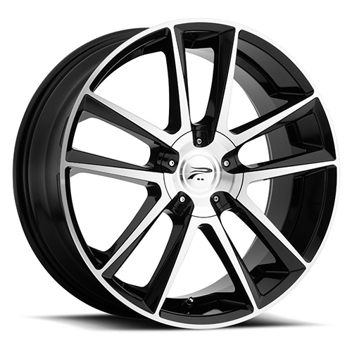 Platinum Wheels 436 Gemini Gloss Black with Diamond Cut Face