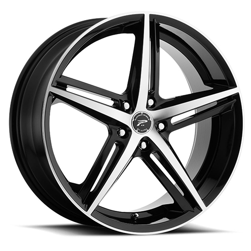 Platinum Wheels 440 Smooth Trip Gloss Black with Diamond Cut Face