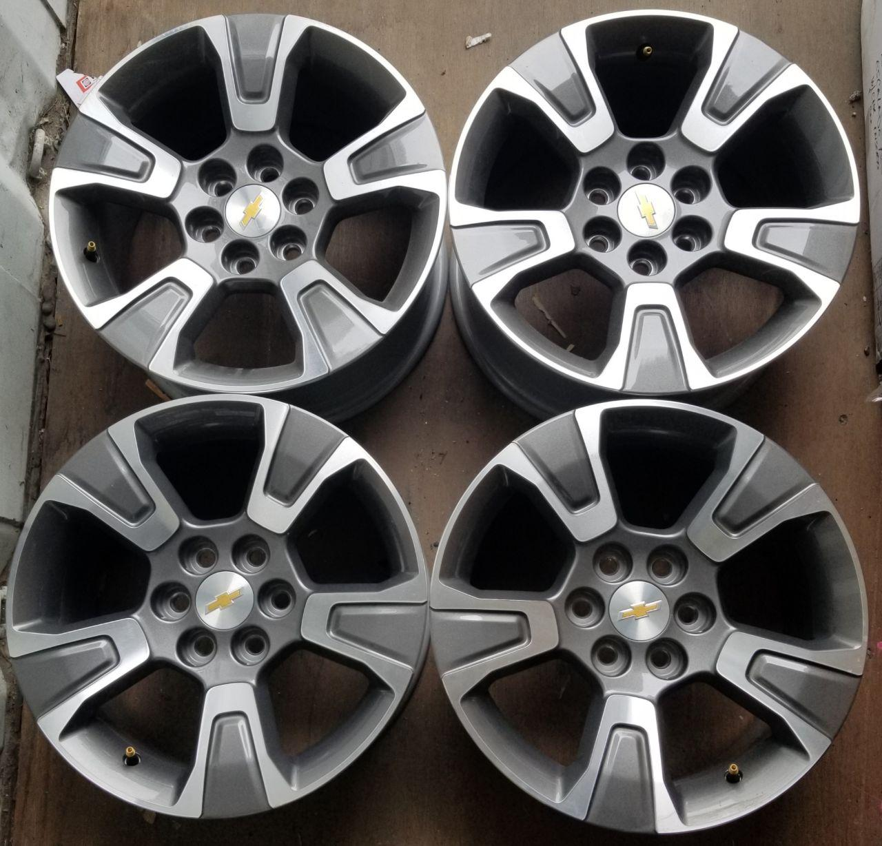 - OEM WHEELS - 2015-2018 GM COLORADO 17x8 5 SPOKE Hollander #5671 /  USED