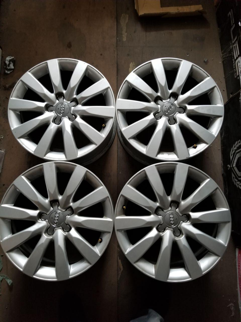 - OEM WHEELS - 2009-2012 AUDI A4 17X8 10 SPOKE Hollander # 58837 /  USED