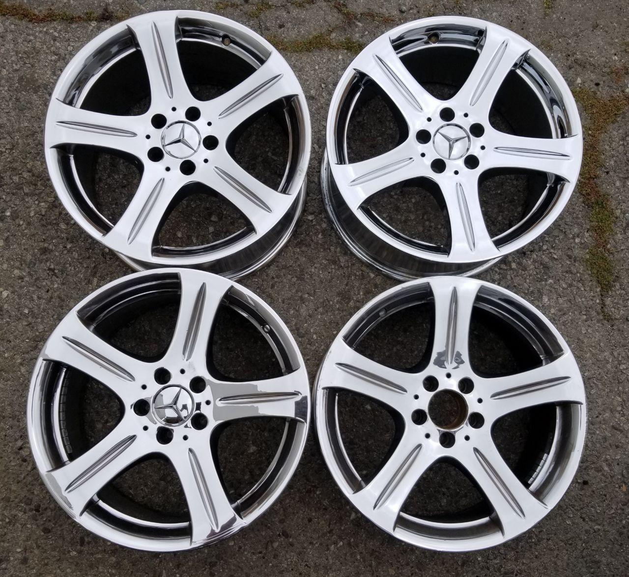 - OEM WHEELS - 2006-2007 MERCEDES CLS500/CLS550 18x9.5 5 SPOKE GROOVE Hollander #65372 /  USED