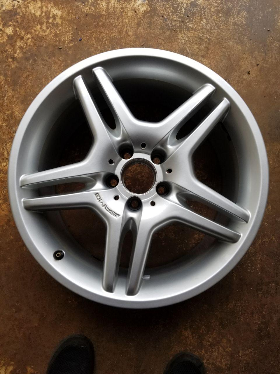 - OEM WHEELS - 2006-2007 MERCEDES S-CLASS AMG 18x8.5 5 SPLIT SPOKE Hollander #65399 /  USED