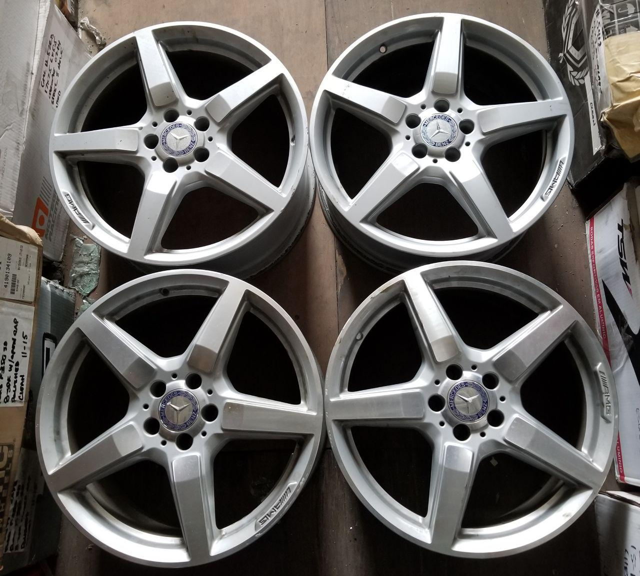 - OEM WHEELS - 2012-2014 MERCEDES CLS500 AMG 19x9.5 5 SPOKE Hollander #85256 /  USED
