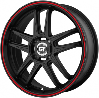 - WHEEL SPECIALS - MR117 BLACK WITH RED STRIPE (SOLD AS A SET OF 4)