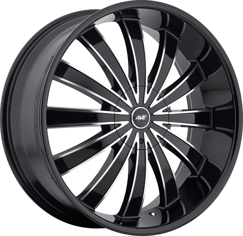 Avenue Wheels A610 Gloss Black MF BL