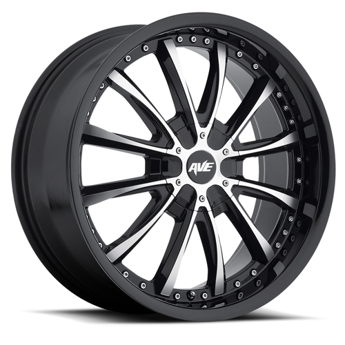 Avenue Wheels A611 Gloss Black Machined face