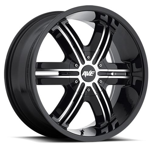 Avenue Wheels A612 Gloss Black Machined face