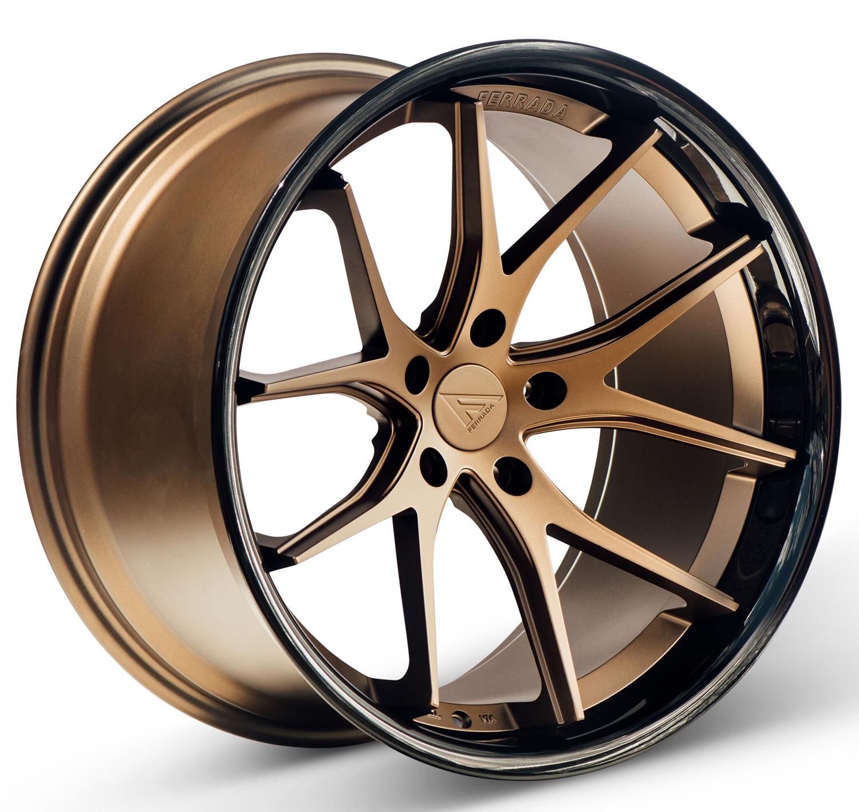 - WHEEL SPECIALS - Ferrada FR-2 Staggered 20x9/20x10.5 Matte Bronze/Black Lip