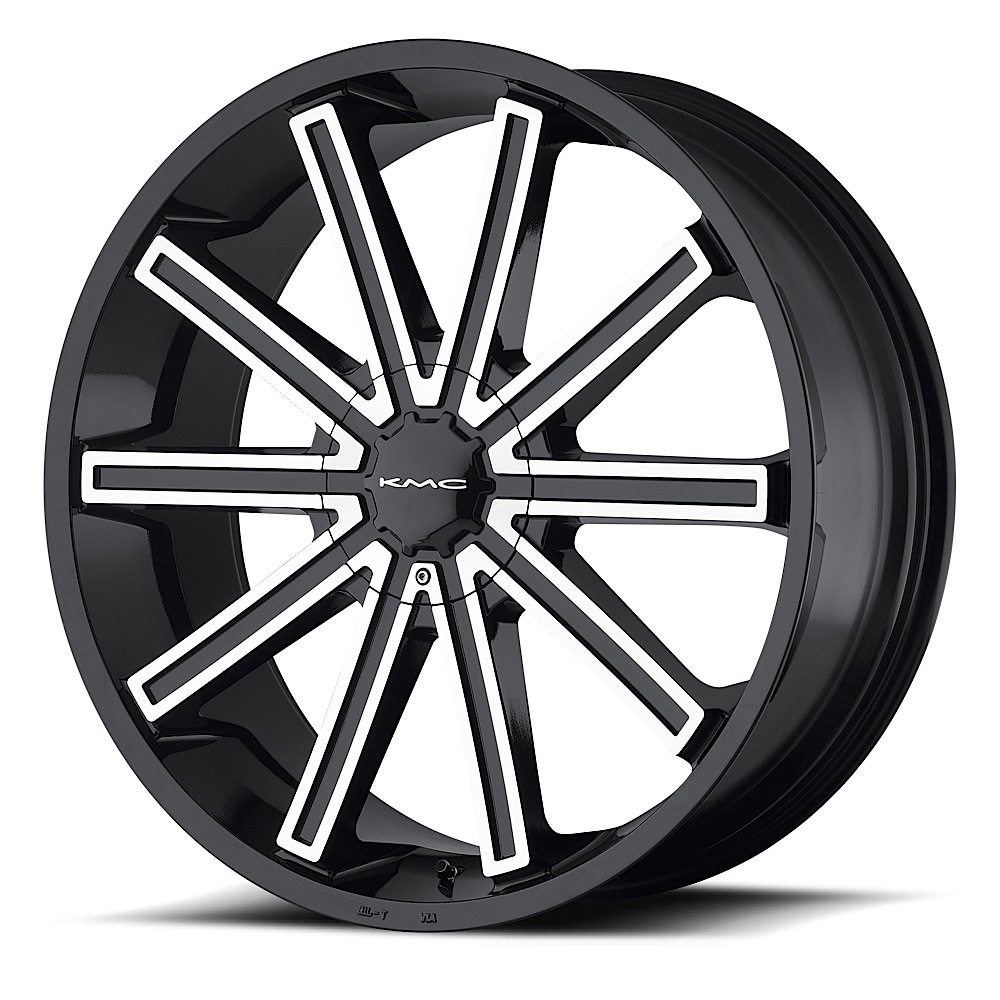- WHEEL SPECIALS - KM681 NERVE GLOSS BLACK AND MACHINED (SOLD AS A SET OF 4)