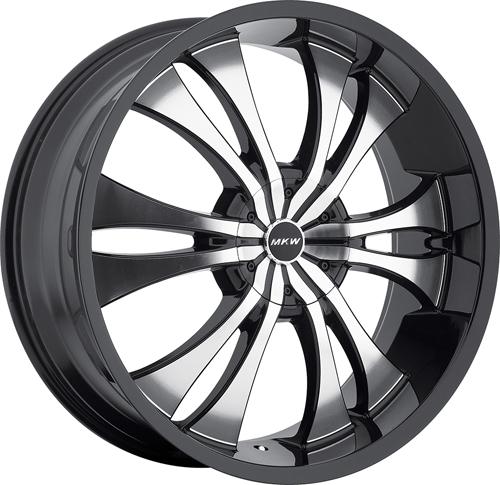 MKW Wheels M114 Gloss Black MF BL