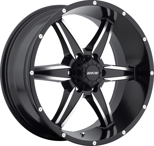 MKW Offroad Wheels M89 Satin Black Machined face