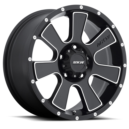 MKW Offroad Wheels M90 Satin Black Machined face