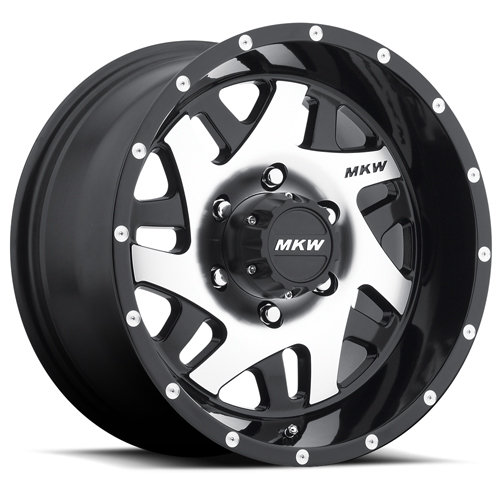 MKW Offroad Wheels M91 Gloss Black Machined face