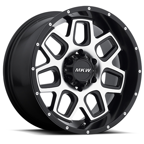 MKW Offroad Wheels M92 Satin Black Machined face