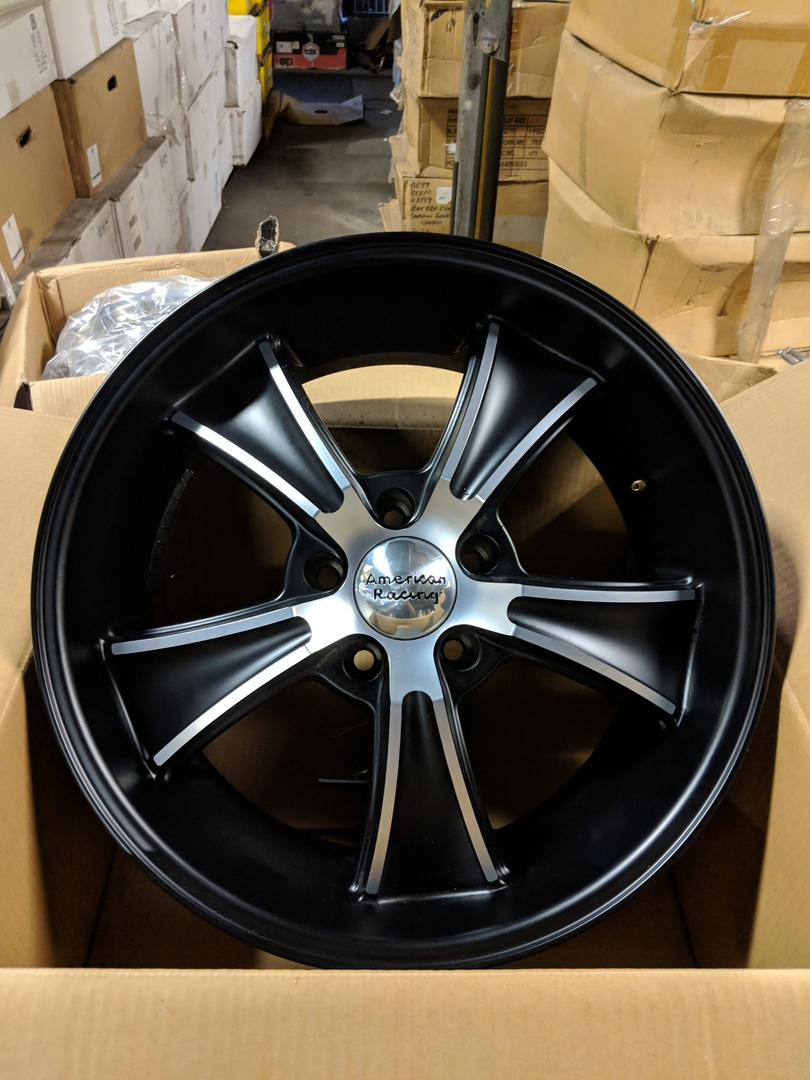 - WHEEL SPECIALS - American Racing VN 805 Staggered 18x8/18x9.5 Satin Black