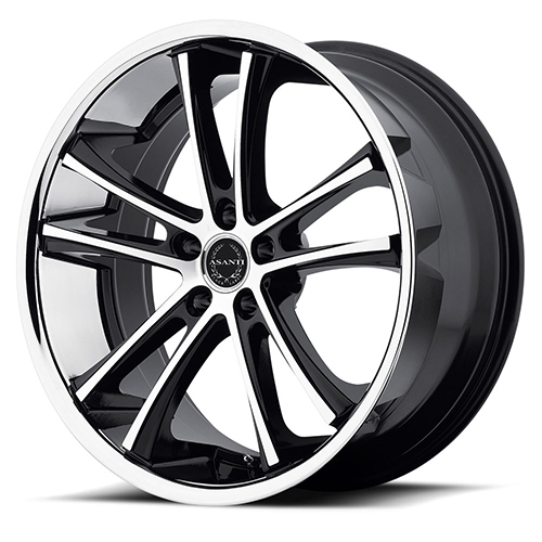 Asanti Black Label Wheels ABL-1 Machined Black with SS Lip