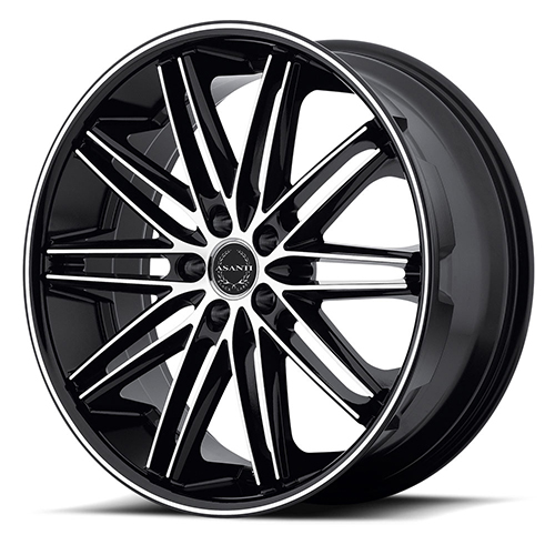 Asanti Black Label Wheels ABL-10 Machined Face with Black Lip