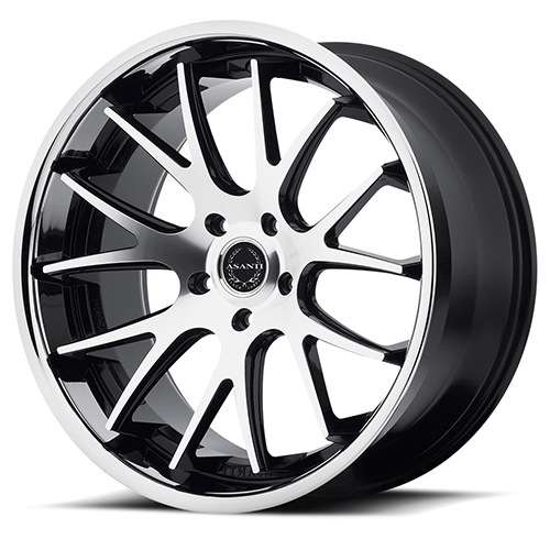 Asanti Black Label Wheels ABL-3 Machined Face with SS Lip