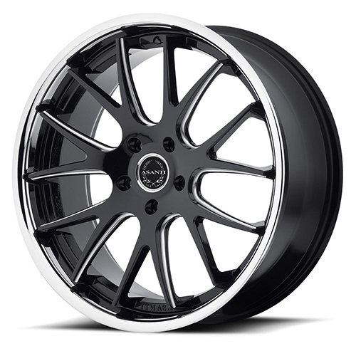Asanti Black Label Wheels ABL-3 Matte Black Milled with SS Lip