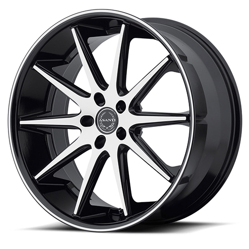 Asanti Black Label Wheels ABL-4 Machined Face with Black Lip