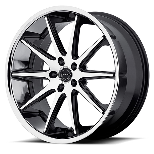 Asanti Black Label Wheels ABL-4 Machined Face with SS Lip