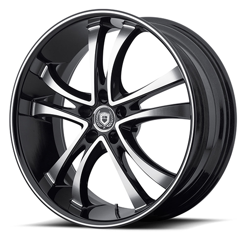 Asanti Black Label Wheels ABL-6 Machined Face with Black Lip