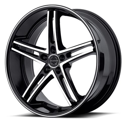 Asanti Black Label Wheels ABL-7 Machine Face with Black Lip