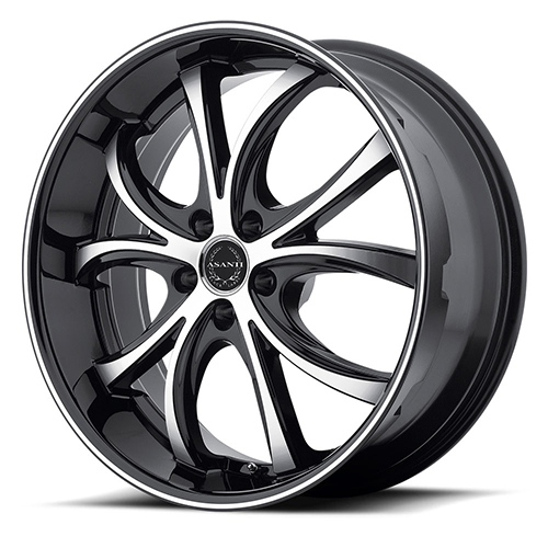 Asanti Black Label Wheels ABL-8 Machined Face with Black Lip