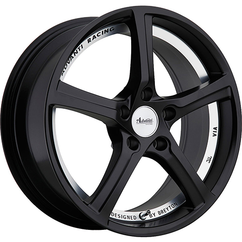 Advanti Racing Wheels 15Th Anniversary Matte Black Undercut