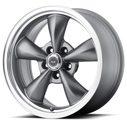 American Racing Wheels AR105  Torq Thrust M Anthracite With Machined Lip