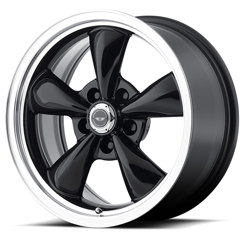 American Racing Wheels AR105  Torq Thrust M Gloss Black With Machined Lip